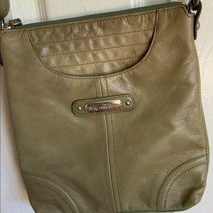 ANN KLEIN..Leather crossbody bag